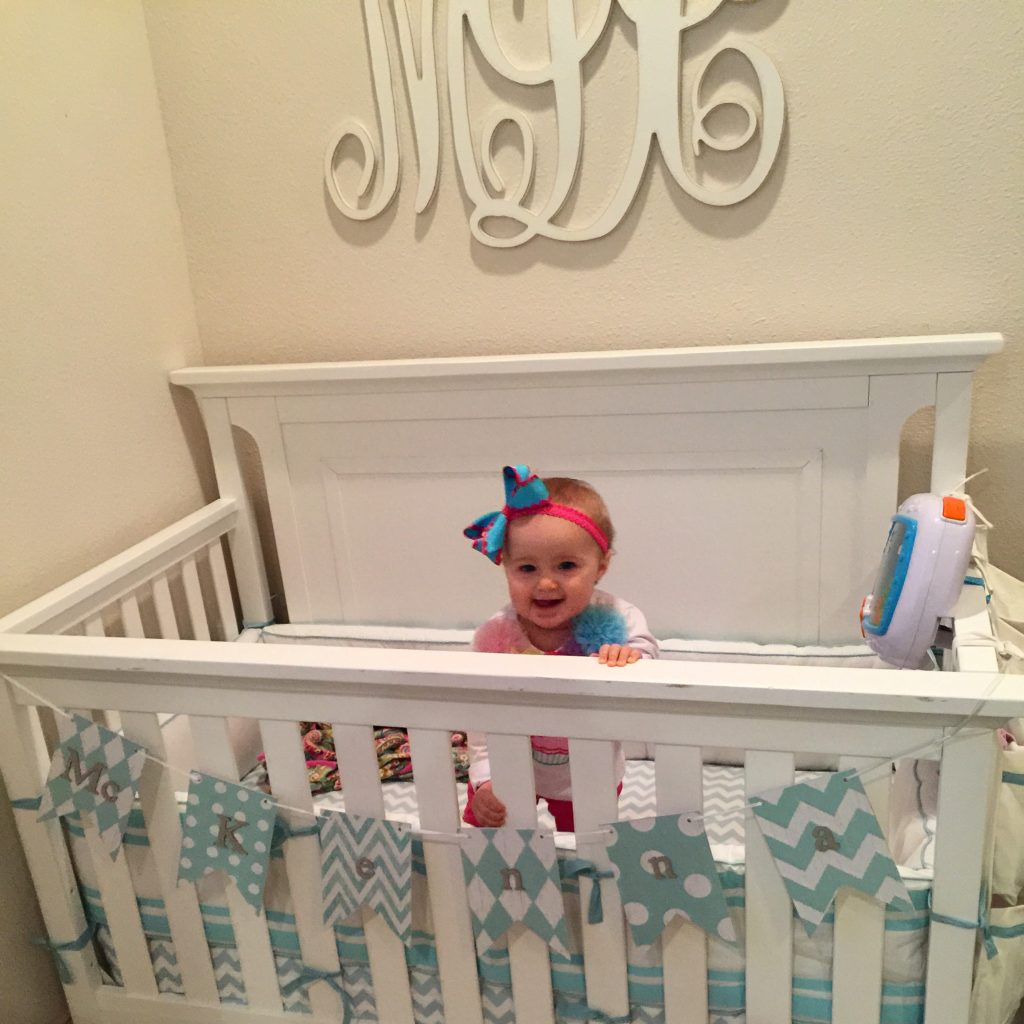 McKenna loves her crib!